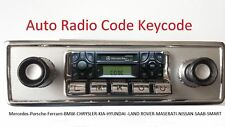 Auto Radio Code Keycode Becker-BE Alpine-AL2199-2910 PHILIPS PH7850 FORD V SERIE