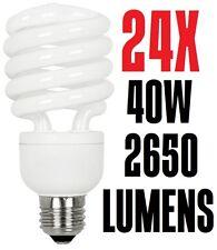 24X 40W CFL T4 Spiral Fluorescent Light Bulb SSL40-T4 Warm White 2700K Sun&Stars