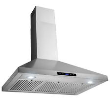 "36"" Wall Mount Stainless Steel Touch Panel Kitchen Range Hood Cooking Fan"