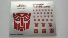 Ocean X Hasbro Cybertron Decal Sticker For Robot Autobots