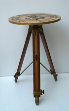 Nautical anchor wooden board table adjustable antique tripod stand home bar cafe