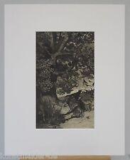 MAX KLINGER Orig. Radierung 062-pp: Gefallener Reiter