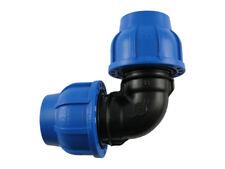 PE Rohr Winkel Verschraubung beidseitig Trinkwasser DVGW Klemmfitting
