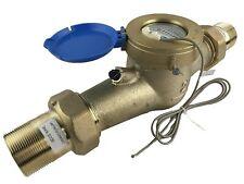"Dae Mj-200m 2"" Lead Free Potable Water Meter, Cubic Meter,Pulse Output+Couplings"