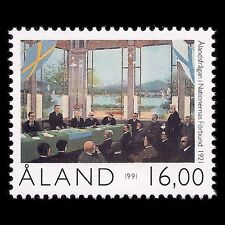 Aland 1991 - 70th Anniv of Aaland Self-Government Painting Art - Sc 59 MNH