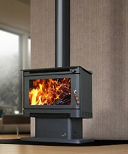 Wood Heater Ecomaxx Premium Pedestal - Metallic Black Fireplace