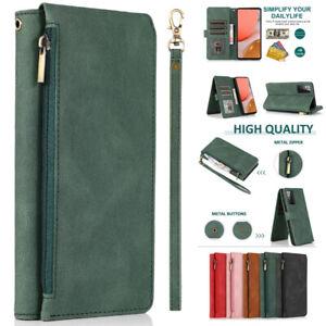 New Zipper Pocket Flip Leather Wallet Case For Sony Xperia 1 II 5 II 10 III