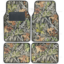 Camo Mats for Car SUV Truck - 4 PC Car Floor Mat Camouflage Rubber Backing Oak