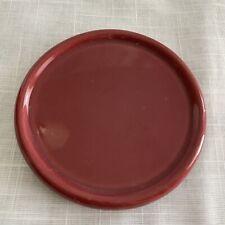 Longaberger One Pint Paprika Salt Crock Lid/Coaster Candle Plate Longaberger Usa