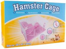 PET ANIMAL HAMSTER CAGE FEEDING HABITAT PORTABLE GERBILS MICE HOME MOUSE HOUSE