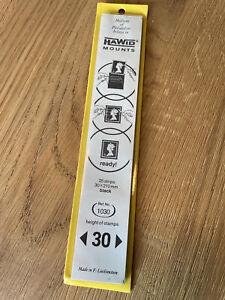 Hawid Mounts - 25 Strips - 30 x 210mm - Black - Ref: 1030