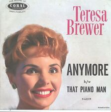 TERESA BREWER--PICTURE SLEEVE ONLY--(ANYMORE)--PS--PIC--SLV
