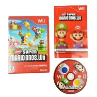 New Super Mario Bros. Wii (Nintendo Wii, 2009) Complete w/ Manual CIB