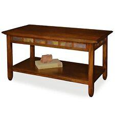 Leick Furniture Rustic Slate Rectangular Coffee Table in Rustic Oak Finish New