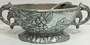 Arthur Court Sauce Boat With Ladle -Grape Pattern 1997 SIGNED