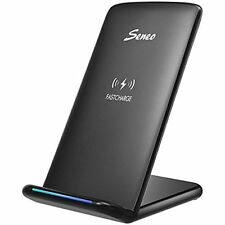 Seneo Charging Stations Galaxy S8 Fast Wireless Charger 10W Fast Charge Coils QI
