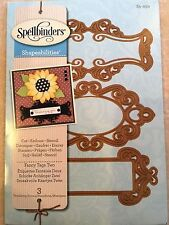 Spellbinder Shapeabilities Dies: Fancy Tags Two 3 Die Set S5-030 NEW