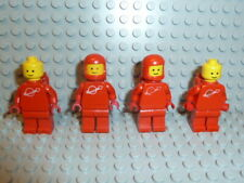 LEGO® Space Classic 4x Figur Astronaut rot mit Airtank 1968 918 6930 6929 F1266