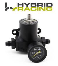 HYBRID RACING MONOBLOCK FUEL PRESSURE REGULATOR UNIVERSAL WITH GAUGE 0-100 PSI