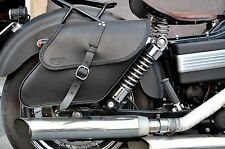 RIGHT SIDE LEATHER SADDLEBAG FOR DYNA WIDE GLIDE LOW RIDER FAT BOB STREET BOB
