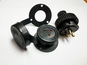 SEAWORLD WATERPROOF 3 PIN DECK CONNECTORS ROUND SHAPE 5AMP