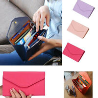 Fashion Women Purse Faux Leather Wallet Ladies Long Handbag Button Clutch Purse