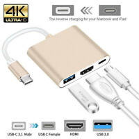 Type C USB 3.1 to USB-C 4K HDMI HDTV USB-C Adapter Converter For Macbook Android