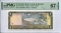 El Salvador 1 Colon 1974 P 120 Superb GEM UNC PMG 67 EPQ High