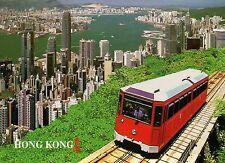 Peak Tram & the Center of Hong Kong, China, HK, Transportation, Train - Postcard