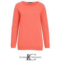 Luisa Cerano Orange Sweater Jumper Size 40 Ladies UK Size 14 Box45 74 J
