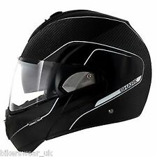 SHARK EVOLINE S3 CARBON MAT BLACK DKS MOTORCYCLE HELMET - X-LARGE (XL)