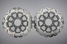 Paire disques frein avant wave 320mm pour Triumph T955i Daytona 955 1999-2001