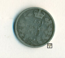 1882 H  Canada 10cents Coin ; Planchet Flaw ; Very Good ; CPF
