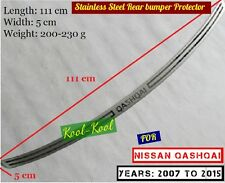 Hi Quality Stainless Steel Rear bumper Protector Sill Nissan Qashqai 2007-2015