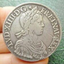 Louis XIV - Ecu à la mèche longue - 1649 N  Montpellier