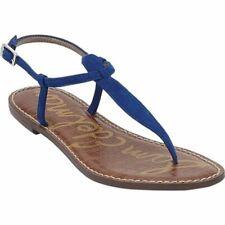 Sam Edelman Women's Size 8.5 Gigi T-Strap Sandal Blue Leather