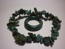 cristalloterapia BRACCIALE TURCHESE + ANELLO braccialetto cristallo fatto mano