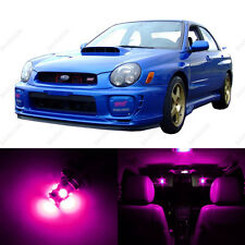 5 x Pink/Purple LED Interior Lights Package For 2002 - 2003 Subaru Impreza WRX