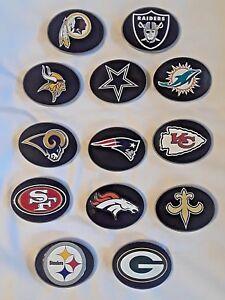 NFL TEAM LOGO BELT BUCKLE ( LOTS OF TEAMS )