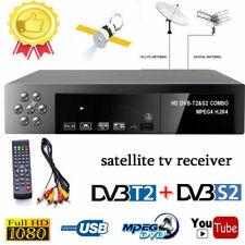 Smart Digital Satellite TV Receiver DVB-T2+DVB-S2 FTA&1080P Decoder Tuner MPEG4