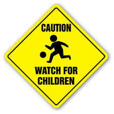 CAUTION WATCH FOR CHILDREN SIGN signs slow playing at play safety