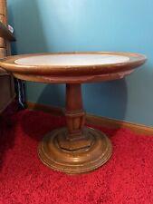 Weiman Vintage Marble Top Low Pedestal Side Table