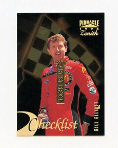 Bill Elliott 1996 96 Pinnacle Zenith 24KT Gold Artist Proof Parallel Card AP 100