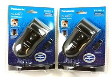 Lot of (2) PANASONIC ES3831K Pro-Curve Battery Operated Travel Wet/Dry Shaver