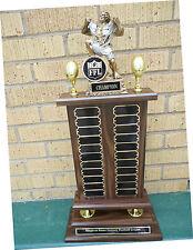 22 Plates on Perpetual  Fantasy Monster Football Trophy Award W/FFL SEAL