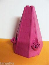 Lego--33215-Turmdach/spitze--pink--6x8x9--Schloss-Prinzessinen-Ersatzteil
