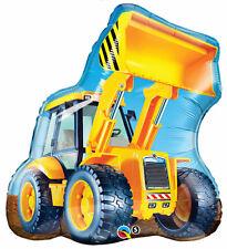 "CONSTRUCTION LOADER BALLOON 32"" BIG YELLOW QUALATEX SUPERSHAPE FOIL BALLOON"