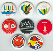 1980 Moscow Olympics Games SAILING Tallinn Pins Set 8