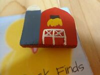 """Fridge Magnet RED BARN AND SILO 2"""" Wood Farm Country"""