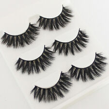 New 3 Pairs Natural Eye Lashes Makeup Handmade Thin Fake False Eyelashes